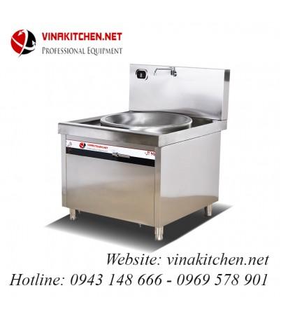 Bếp từ công nghiệp lõm lớn có vòi rửa 12KW HZD-12KW-XDLD800