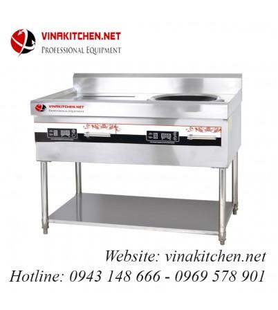 Bếp từ công nghiệp lõm có giá kệ có hẹn giờ 15KW HZD-15KW-ASCLX