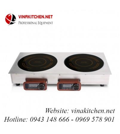 Bếp từ công nghiệp đôi lắp âm 3.5KW HZD-F3.5KW-2XKQ