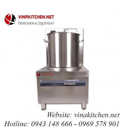 Bếp từ công nghiệp lớn có vòi rửa 8KW HZD-8KW-PDKCL