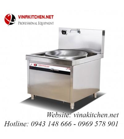 Bếp từ công nghiệp lõm lớn có vòi rửa 8KW HZD-8KW-XDLD800