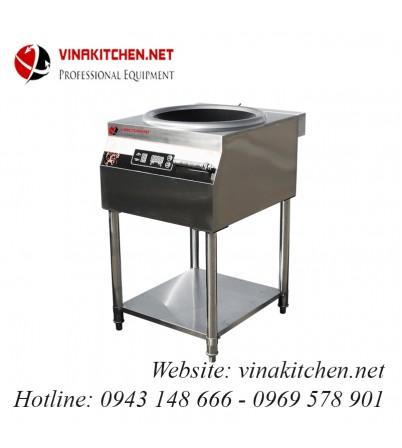 Bếp từ công nghiệp lõm có giá có hẹn giờ 8KW HZD-8KW-ZKLL
