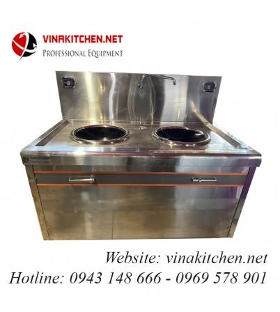 Bếp từ công nghiệp lõm đôi Vinakitchen 2x8KW