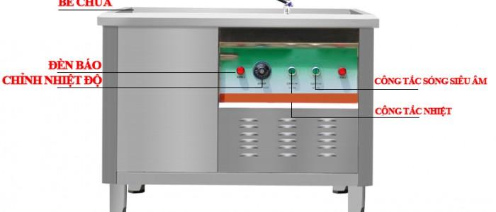 Hướng dẫn sử dụng máy rửa bát siêu âm công nghiệp
