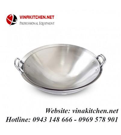 Chảo inox dùng cho bếp từ công nghiệp đường kính 50 CM