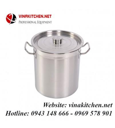 Nồi inox dùng cho bếp từ công nghiệp 52 Lít