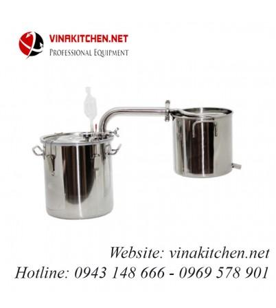 Nồi nấu rượu nồi chưng cất tinh dầu inox dùng gas, than, củi, bếp từ 30 lít NR-30